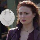 2019 X-Men DARK PHOENIX Pendant Necklace Earrings SET Jean Grey Sophie Turner Props Cosplay