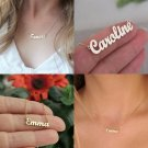 Personalized Name Pendant Necklace Handmade Customized Stainless Steel Rose Gold Silver