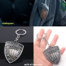 Game Cyberpunk 2077 Keychain Cosplay Prop Accessories Key Chain Night City Police Department