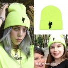 Embroidery Billie Eilish Beanie Hat Knitted Winter For Women Men Hip-hop Casual Beanies