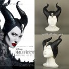 2019 Maleficent 2 Mistress of Evil Hat Headpiece Latex Angelina Jolie Halloween Props Cosplay