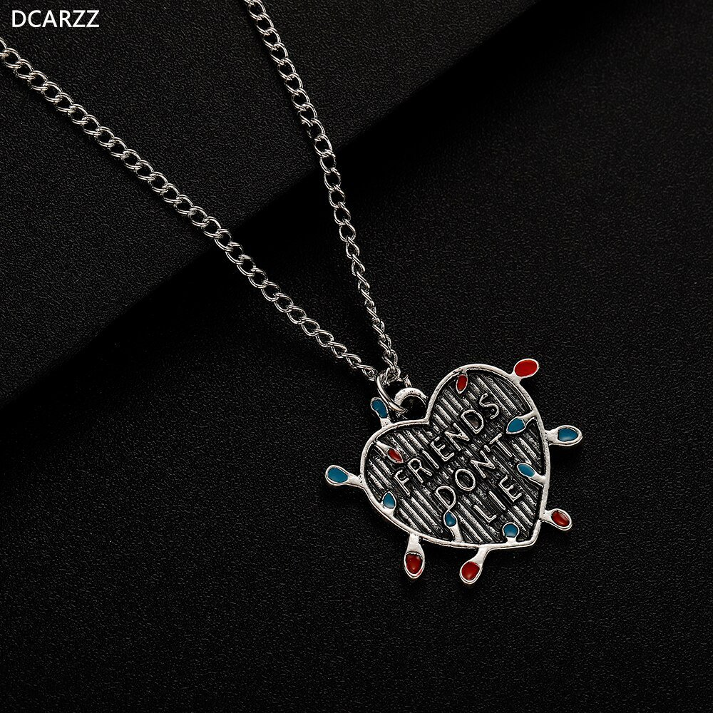 2019 Stranger Things 3 Eleven Friend don't Lie Heart Charm Pendant Necklace