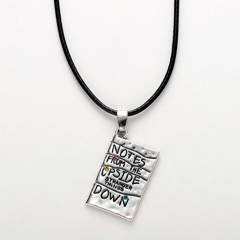 2019 Stranger Things Notes From The Upside Down Letters Charm Pendant Necklace