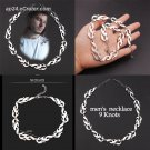 2019 Harajuku Men Flame Necklace 9 Knots Hip Hop Punk Rock Chain Choker Street Wear Jewelry