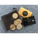 2019 Movie John Wick Underworld Gold Coins With Continental Hotel Card Cosplay Prop Accessories