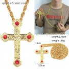 Cross Pendant Long Necklace Orthodox Church Fashion HipHop Franco Gold Chain Men jewelry