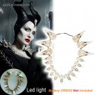 2019 Maleficent 2 LED Mistress of Evil Crow Skull Necklace Angelina Jolie Halloween Props Cosplay