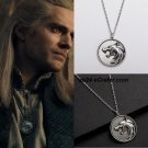2019 The Witcher Geralt of Rivia Gwynbleidd Medallion White Wolf Pendant Necklace Valentine's Gift