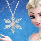 2019 FROZEN 2 Elsa Snowflake Pendant Necklace Princess Anna Crystal Costplay Jewelry Christmas Gift