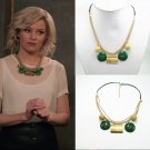 2019 Charlie's Angels BOSLEY Green Necklace Elizabeth Banks Prop Cosplay Christmas Gift