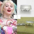 2020 Harley Quinn BIRDS OF PREY Sling Ring Margot Robbie Prop Cosplay Adjustable US 6-8