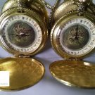 2X 2007 The GOLDEN COMPASS Alethiometer Lyra POCKET Watch His Dark Materials NOT MOVING DEFECT