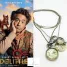 2020 Dr Doctor DoLittle Pocket Watch Rings Charm Pendant Necklace Robert Downey Jr Props Cosplay