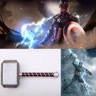 2019 Captain America Steve Rogers Cosplay Prop Mjolnir Thor's Hammer 44cm PU Movie Avengers Endgame