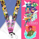 JoJo's Bizarre Adventure Cosplay Accessories Prop Chain Key Rings Cell Phone Neck Strap ID Lanyard