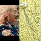 2020 BIRDS OF PREY Harley Quinn STARS Earrings Ear Cuff Margot Robbie Prop Cosplay