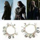 2020 The Witcher Geralt Yennefer Ciri Charm Bracelet Medallion Props Cosplay Halloween Gift