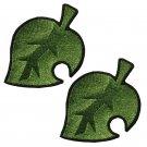 2X Animal Crossing Nook Inc Leaf Patch DIY Patchwork Sticker Custom Tom Nook Accessories