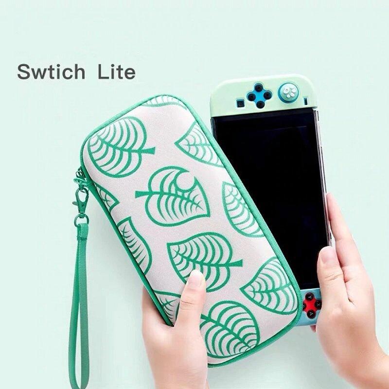 Nintendo Switch LITE Storage Bag Carrying Case Portable Casing Animal Crossing Nook Inc Leaf Gift