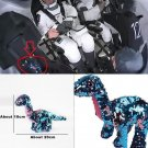 SpaceX Sequined Tremor Dinosaur Plush Toy Flippables NASA Crew Dragon Stuffed Doll 20cm