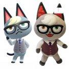 Animal Crossing Raymond Plush Toy Smug Cat Villager Jyakku Soft Stuffed Figure Doll Amiibo Toys Gift