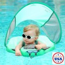Summer Infant Safety Inflatable Ring With Sunshade Swimming Floating Ring 3D Fabric US Shipping