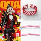 2021 The Suicide Squad 2 Harley Quinn Red Choker Necklace Margot Robbie Prop Cosplay Halloween Gift