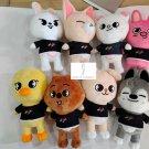 Skzoo Stray Kids Plush Toy Soft Stuffed Doll Gift Leebit Wolf Chan DWEKKI BbokAri PuppyM Foxl.Ny
