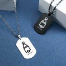 Squid Game Stainless Steel Pendant Necklace Triangle Square Round Men Women Accessories
