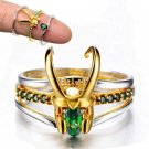 Avengers Loki Helmet 3 Stacking Ring Men Charm Jewelry Women Christmas Gift