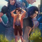 Final fantasy fan art print Zack's path