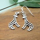 925 Sterling Silver Giraffe Earrings, Animal Earrings, Girls Earrings, Handmade Earrings