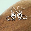 925 Sterling Silver Lion Earrings, Handmade Earrings, Animal Earrings, Girls Earrings