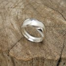 Two Tone Silver Ring, Sterling Silver Jewelry, 925 Silver Spiral Ring, Two Tone Silver Ring