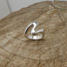 925 Sterling Silver Wave Ring, Handmade Solid Band Ring