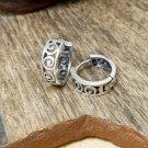 925 Sterling Silver Earrings, Spiral Wave Hug Hoop Earrings, 4mm Wide Silver Hoops, Hug Earrings