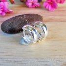 925 Sterling Silver Round Hoop Earrings, Hug Earrings, 4mm Wide Earrings, Unisex Earrings