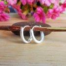 925 Sterling Silver Oval Hug Earrings, Handmade Oval Hoop Earrings