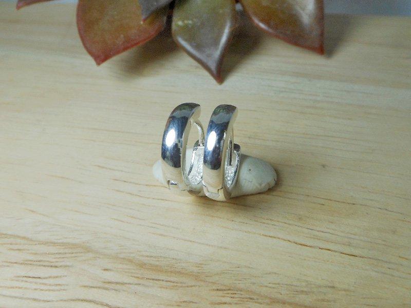 925 Sterling Silver Round Hoop Earrings, Hug Earrings, Unisex Earrings