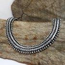 Silver Centipede Bracelet Wide 10mm, 925 Sterling, Handmade Bracelet, Centipede Link Bracelet