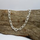 Flat Oval Cable Chain Bracelet, 925 Sterling Silver, Link Chain Bracelet 5mm