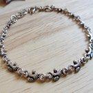 Silver Bare Feet Bracelet, Handmade 925 Silver Bracelet, Link Chain Bracelet