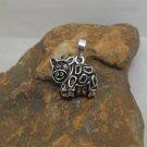 Moving Cow Pendant, 925 Sterling Silver, Handmade Charm, Animal Pendant, Bracelet Charm