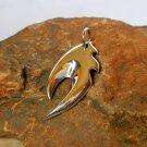 Cool Unisex Handmade Sterling Silver Design Fire Pendants,Design Fire Pendant