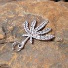 Cannabis Leaf Pendant, Silver Pendant, Handmade Pendant, 925 Sterling Silver, Bracelet Charm
