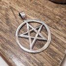 925 Sterling Silve Pendant, 28mm Silver Pendant, Satanic Pentagram Pendant, Handmade Pendant
