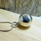 Sterling Silver Ball Charm, Ball Bell Charm, Ball Pendant, Charm Bracelet, Charm Necklace