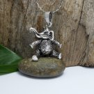 3D Movable Elephant Charm, 925 Sterling Silver, Handmade Charm, Animal Pendant, Bracelet Charm