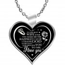 Valentine Day Gift Ideas, Wife's Birthday Silver Necklace, Husband Love Gifts