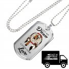 Let My Dream Catch Your Love Cool Dog Tag - Perfect Gift for Wife Husband Lovers